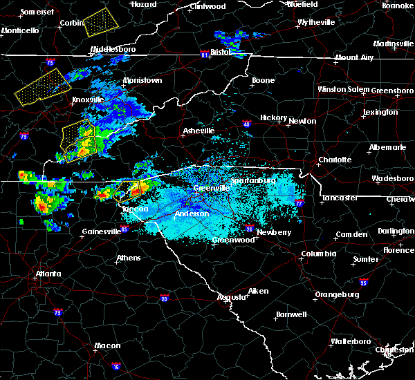 Radar Image for Severe Thunderstorms near Pickens, SC at 4/25/2020 6:28 PM EDT