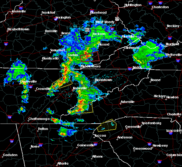 Radar Image for Severe Thunderstorms near Tellico Plains, TN at 4/25/2020 6:41 PM EDT