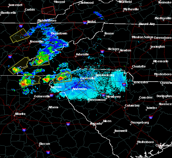 Radar Image for Severe Thunderstorms near Pickens, SC at 4/25/2020 6:47 PM EDT