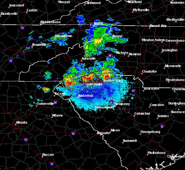 Radar Image for Severe Thunderstorms near Boiling Springs, SC at 4/25/2020 8:33 PM EDT