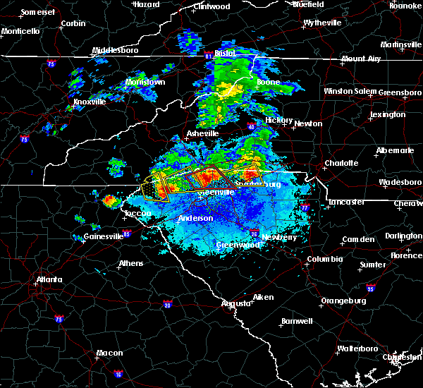 Radar Image for Severe Thunderstorms near Arial, SC at 4/25/2020 8:39 PM EDT