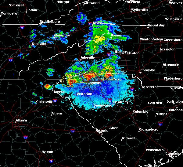 Radar Image for Severe Thunderstorms near Saxon, SC at 4/25/2020 8:40 PM EDT