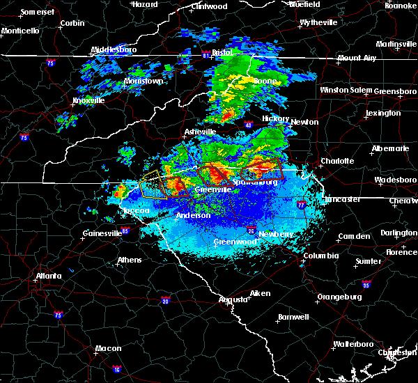 Radar Image for Severe Thunderstorms near Saxon, SC at 4/25/2020 8:56 PM EDT