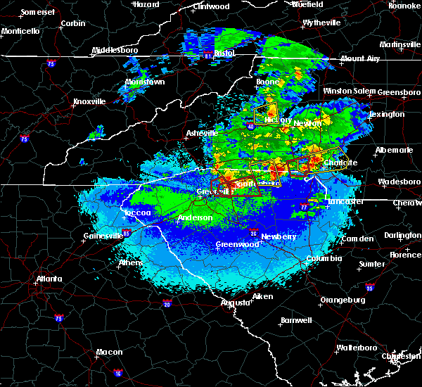Radar Image for Severe Thunderstorms near Bessemer City, NC at 4/25/2020 9:47 PM EDT