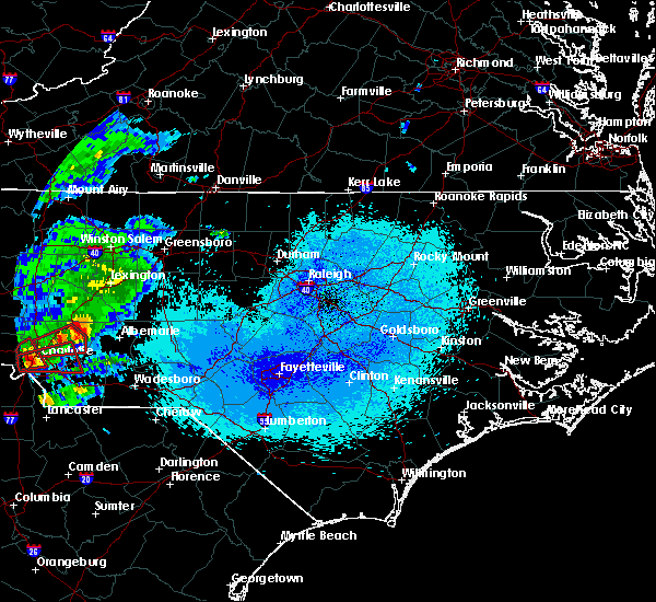 Radar Image for Severe Thunderstorms near Norwood, NC at 4/25/2020 10:32 PM EDT