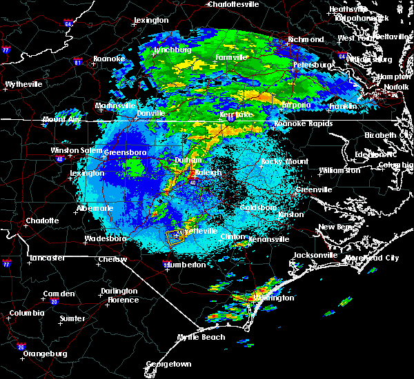 Radar Image for Severe Thunderstorms near Hope Mills, NC at 4/26/2020 1:55 AM EDT
