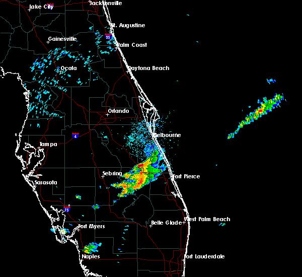 Radar Image for Severe Thunderstorms near Malabar, FL at 4/26/2020 8:49 AM EDT