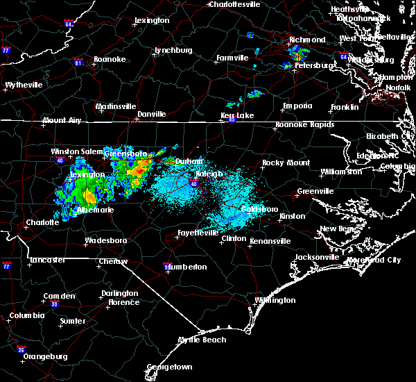 Radar Image for Severe Thunderstorms near Saxapahaw, NC at 4/26/2020 7:32 PM EDT