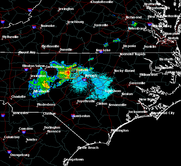 Radar Image for Severe Thunderstorms near Fearrington Village, NC at 4/26/2020 7:51 PM EDT