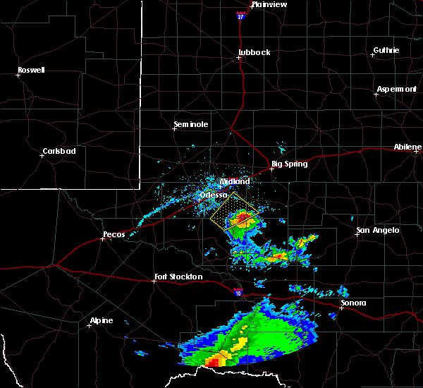 Radar Image for Severe Thunderstorms near Garden City, TX at 4/27/2020 6:25 PM CDT