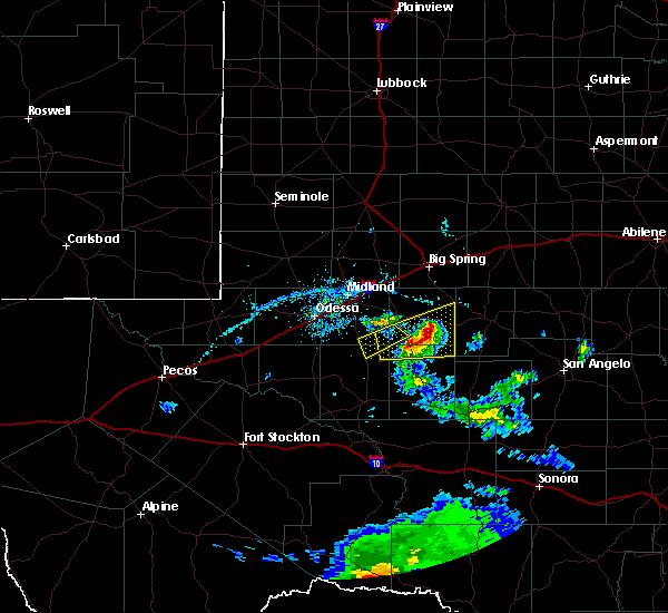Radar Image for Severe Thunderstorms near Garden City, TX at 4/27/2020 6:55 PM CDT