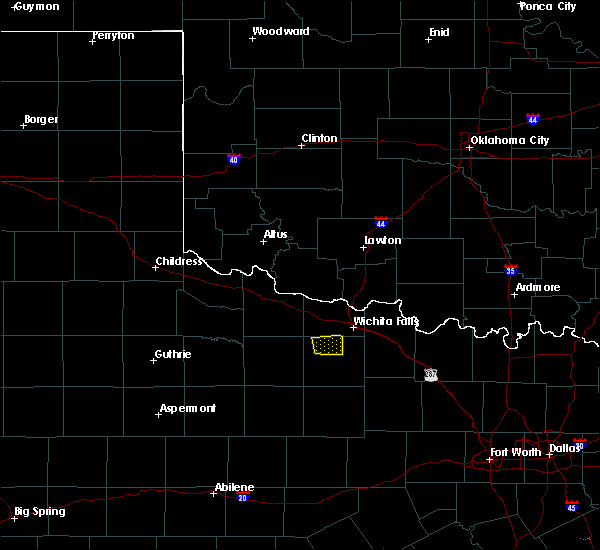 Radar Image for Severe Thunderstorms near Scotland, TX at 4/28/2020 12:59 AM CDT