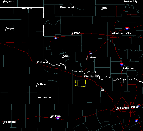 Radar Image for Severe Thunderstorms near Scotland, TX at 4/28/2020 1:12 AM CDT