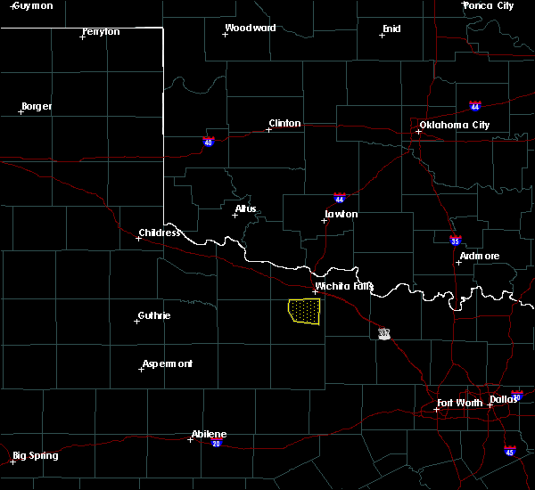 Radar Image for Severe Thunderstorms near Scotland, TX at 4/28/2020 1:20 AM CDT