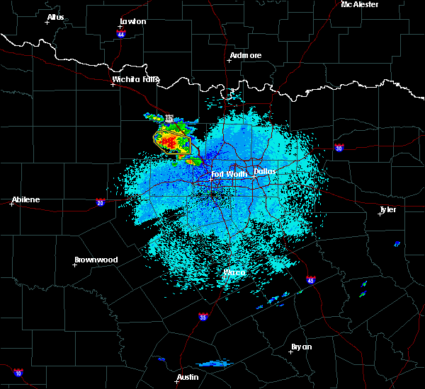 Radar Image for Severe Thunderstorms near Chico, TX at 4/28/2020 3:14 AM CDT