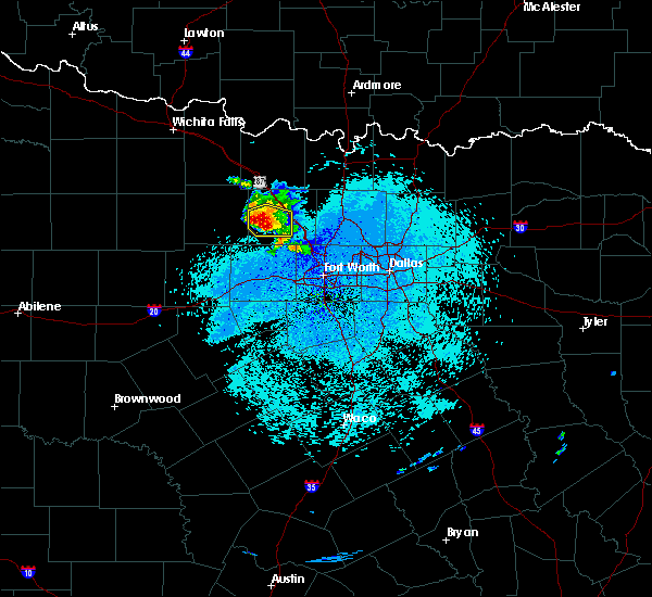 Radar Image for Severe Thunderstorms near Weatherford, TX at 4/28/2020 3:28 AM CDT