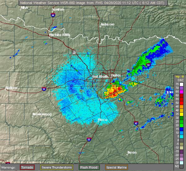 Radar Image for Severe Thunderstorms near Garrett, TX at 4/28/2020 6:17 AM CDT