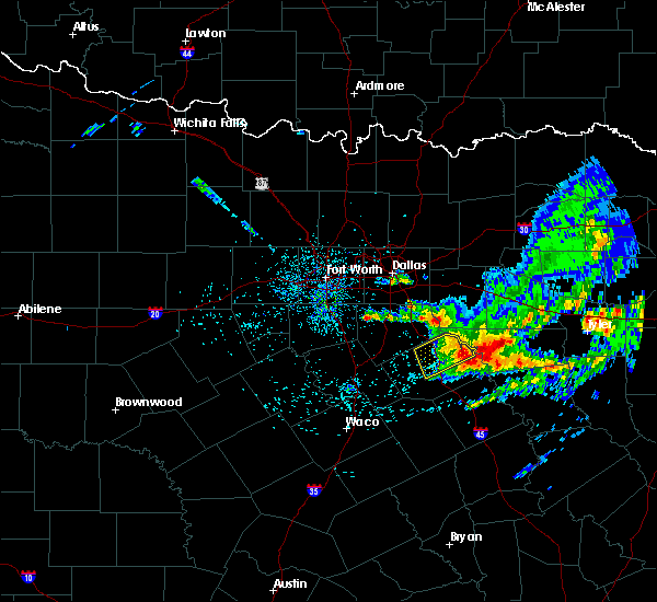 Radar Image for Severe Thunderstorms near Oak Valley, TX at 4/28/2020 7:13 AM CDT