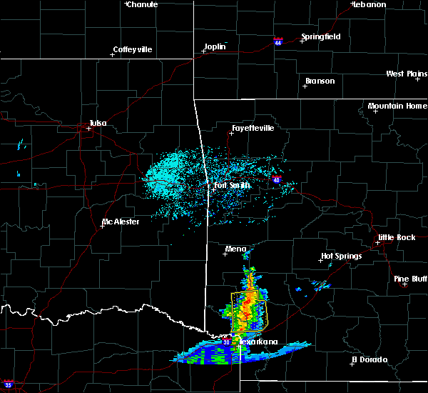 Radar Image for Severe Thunderstorms near Kirby, AR at 4/28/2020 10:01 AM CDT