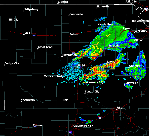 Radar Image for Severe Thunderstorms near Winfield, KS at 4/28/2020 3:31 PM CDT