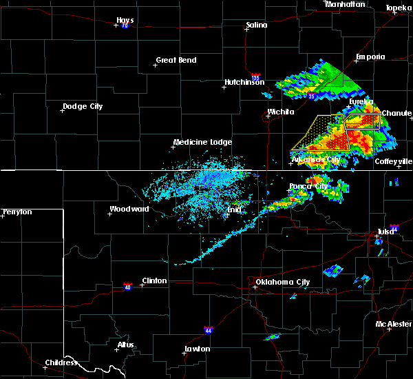 Radar Image for Severe Thunderstorms near Red Rock, OK at 4/28/2020 4:05 PM CDT