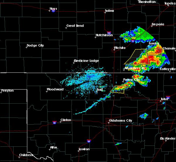 Radar Image for Severe Thunderstorms near Burbank, OK at 4/28/2020 4:10 PM CDT