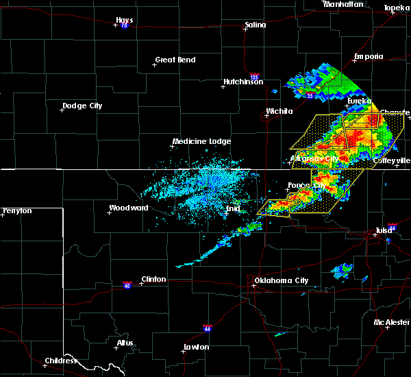 Radar Image for Severe Thunderstorms near Perry, OK at 4/28/2020 4:21 PM CDT