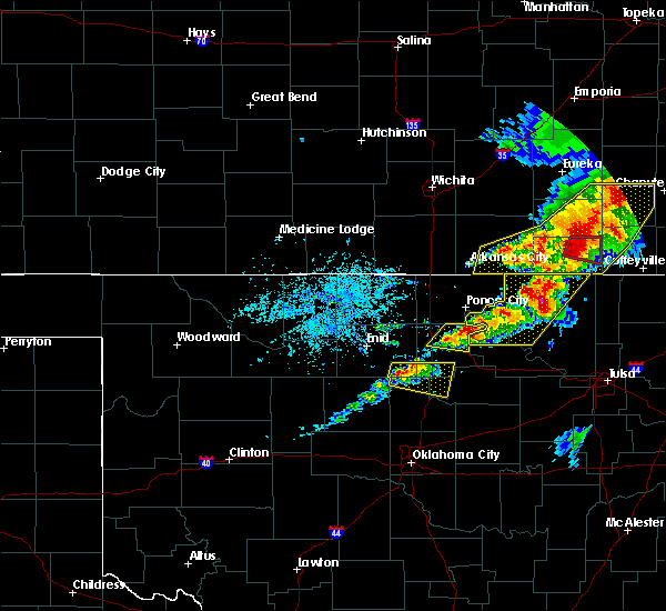 Radar Image for Severe Thunderstorms near Perry, OK at 4/28/2020 4:24 PM CDT
