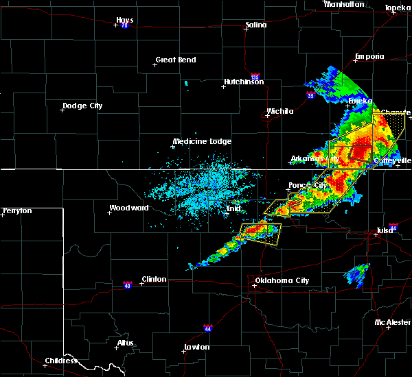 Radar Image for Severe Thunderstorms near Burbank, OK at 4/28/2020 4:28 PM CDT