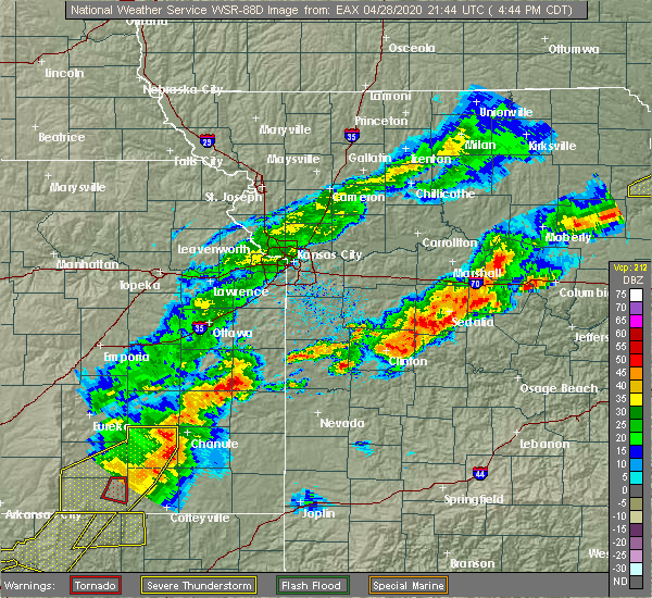 Radar Image for Severe Thunderstorms near Lincoln, MO at 4/28/2020 4:51 PM CDT