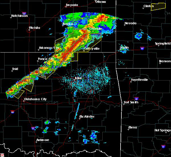 Radar Image for Severe Thunderstorms near Burbank, OK at 4/28/2020 4:52 PM CDT