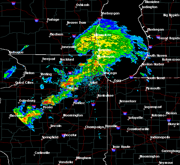 Radar Image for Severe Thunderstorms near Lake Holiday, IL at 4/28/2020 4:58 PM CDT