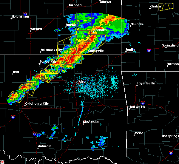 Radar Image for Severe Thunderstorms near Avant, OK at 4/28/2020 5:00 PM CDT