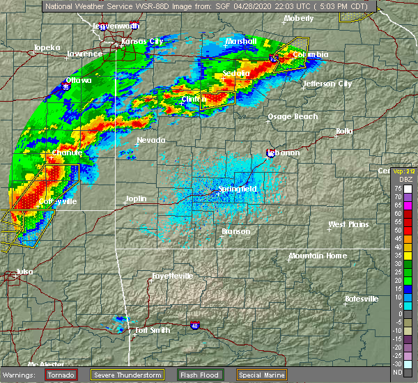 Radar Image for Severe Thunderstorms near Mulberry, KS at 4/28/2020 5:07 PM CDT