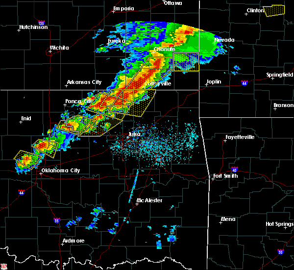 Radar Image for Severe Thunderstorms near Lenapah, OK at 4/28/2020 5:10 PM CDT