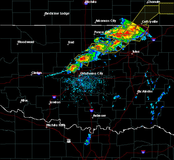 Radar Image for Severe Thunderstorms near Morrison, OK at 4/28/2020 5:18 PM CDT