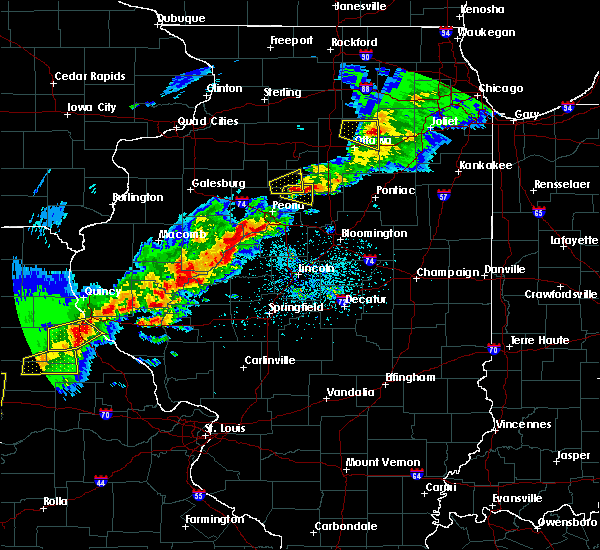 Radar Image for Severe Thunderstorms near Washburn, IL at 4/28/2020 5:26 PM CDT