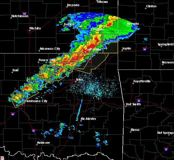 Radar Image for Severe Thunderstorms near Avant, OK at 4/28/2020 5:30 PM CDT