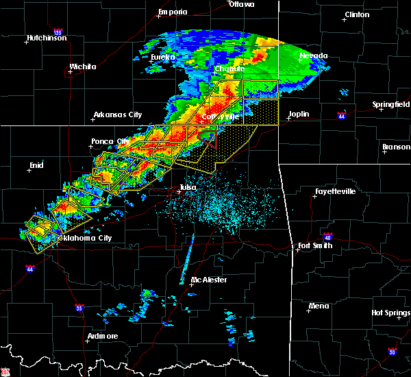 Radar Image for Severe Thunderstorms near Lenapah, OK at 4/28/2020 5:32 PM CDT