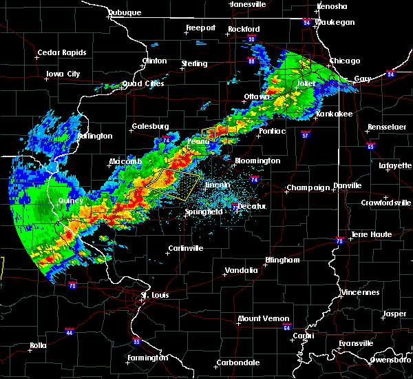 Radar Image for Severe Thunderstorms near Washburn, IL at 4/28/2020 5:40 PM CDT