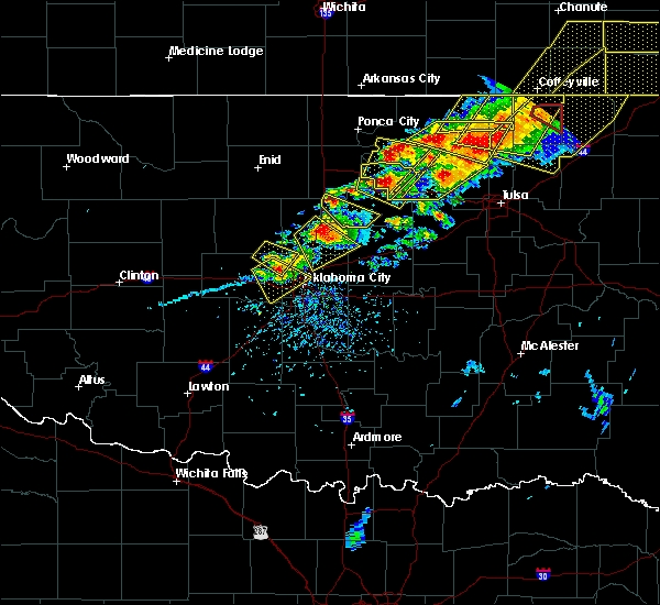 Radar Image for Severe Thunderstorms near Arcadia, OK at 4/28/2020 5:40 PM CDT