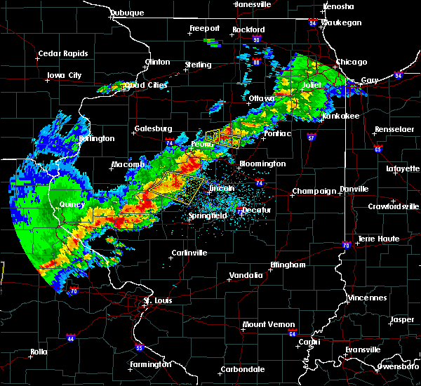 Radar Image for Severe Thunderstorms near Greenview, IL at 4/28/2020 5:51 PM CDT