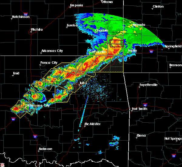 Radar Image for Severe Thunderstorms near Mannford, OK at 4/28/2020 5:55 PM CDT