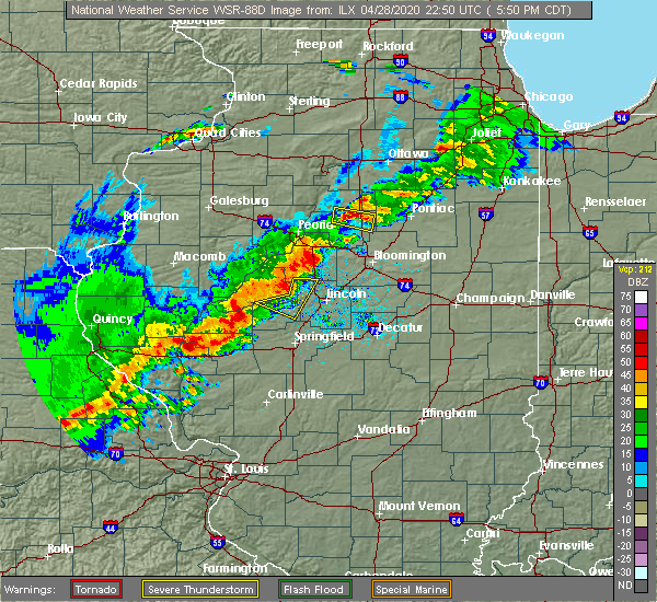 Radar Image for Severe Thunderstorms near Concord, IL at 4/28/2020 5:58 PM CDT