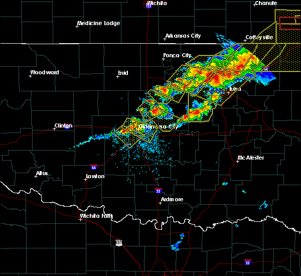 Radar Image for Severe Thunderstorms near Forest Park, OK at 4/28/2020 5:57 PM CDT
