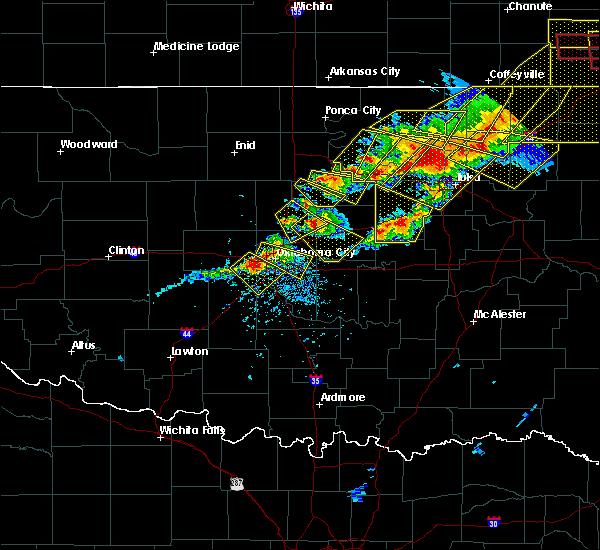 Radar Image for Severe Thunderstorms near Oklahoma City, OK at 4/28/2020 6:06 PM CDT