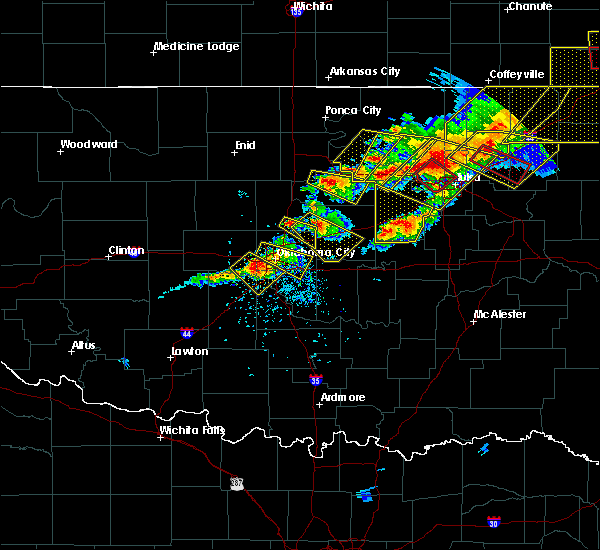 Radar Image for Severe Thunderstorms near Warwick, OK at 4/28/2020 6:11 PM CDT