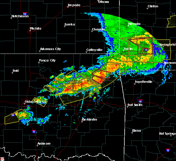 Radar Image for Severe Thunderstorms near Flint Creek, OK at 4/28/2020 7:05 PM CDT