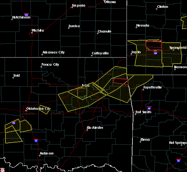 Radar Image for Severe Thunderstorms near Bernice, OK at 4/28/2020 7:18 PM CDT