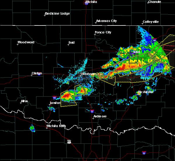 Radar Image for Severe Thunderstorms near Shawnee, OK at 4/28/2020 7:23 PM CDT